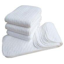 Детские новые детские белые Экологичные хлопчатобумажные подгузники из 2 предметов, моющиеся подгузники
