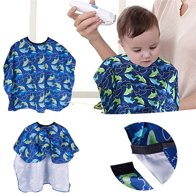 4a104ecb5359 Salon Waterproof Hair Cutting Gown Cape Nylon Hairdresser Cape Sea Fish  Patterned Barber for Kids Child Waterproof  289295