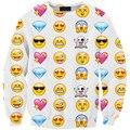 Navio da gota Mulheres Pullover Moda Hoodie Emoji Roupas Rede sudadera Expression Impresso Camisola Hoodies Dos Desenhos Animados Outfits