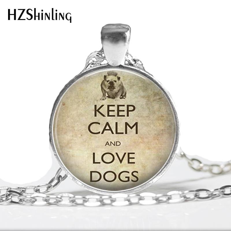 1 Stück Halten Sie Ruhe Liebe Hunde Halskette Anhänger. Bulldog. Halten Sie Ruhe. Hund Schmuck. Englisch Bulldog. Handgemachte Schmuck Hz1