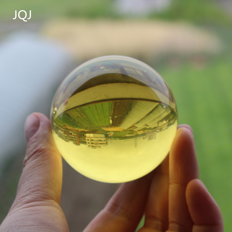 JQJ Crystal Glass Marbles Sphere Ball 60 mm Feng shui Christmas Home Desk Ornaments Terrarium Globe Balls Decor Crafts souvenir