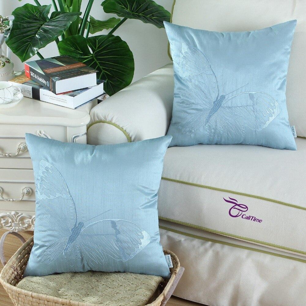 2pcs Calitime Super Soft Comfortable Cushion Cover Pillows