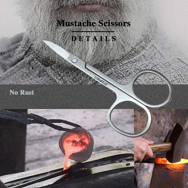 SPEQUIX Men's Beard Grooming Kit Included Massage Beard Oil, Mustache Balm,Beard Brush,Comb  Sharp Scissors 5PCS/Set 3