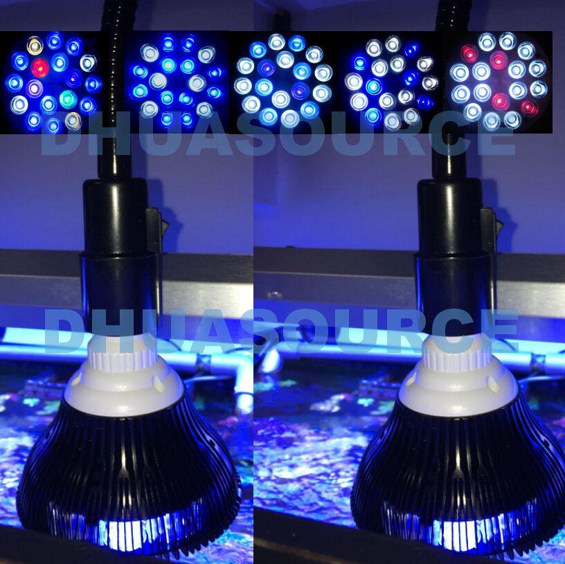 Black Shell LED Aquarium Light Led  Pet Lighting Fish Tank Lamp Plant Bulb 50/54W For Saltwater Marine Coral Reef Sump Algae