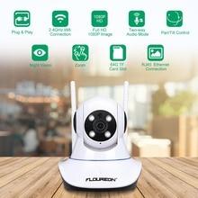 Floureon 1080 P ip камера 2.0MP беспроводная видеокамера с Wi-Fi PT IR-CUT tf-карта детский монитор