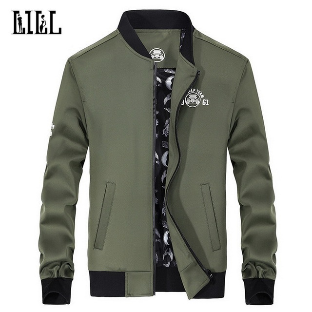 2017 Newest Men's Brand Clothing Spring Mens Bomber Jacket Men Army Military Coat Casual Baseball Jackets Stand Man 3XL,UMA380