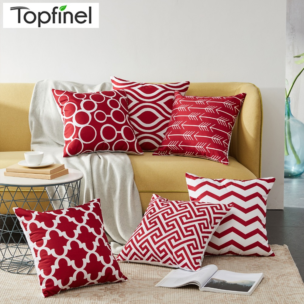 Nordic Style Geometric Decorative Cushion Covers Cotton