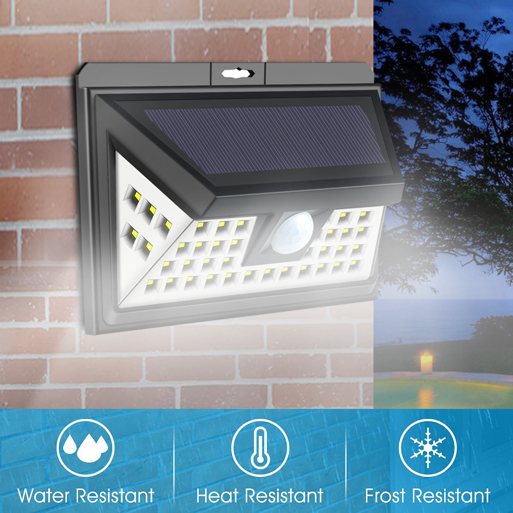 440LM 44LED Solar Wall Light 3.5W Motion Sensor Lamp Solar Lamp Energy Saving Emergency light Waterproof Outdoor Garden light