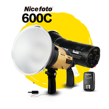 NiceFoto HS 600C  600W High-speed sync HSS 1/8000S Studio Flash High Speed Speedlite with Transmitter for Canon Camera