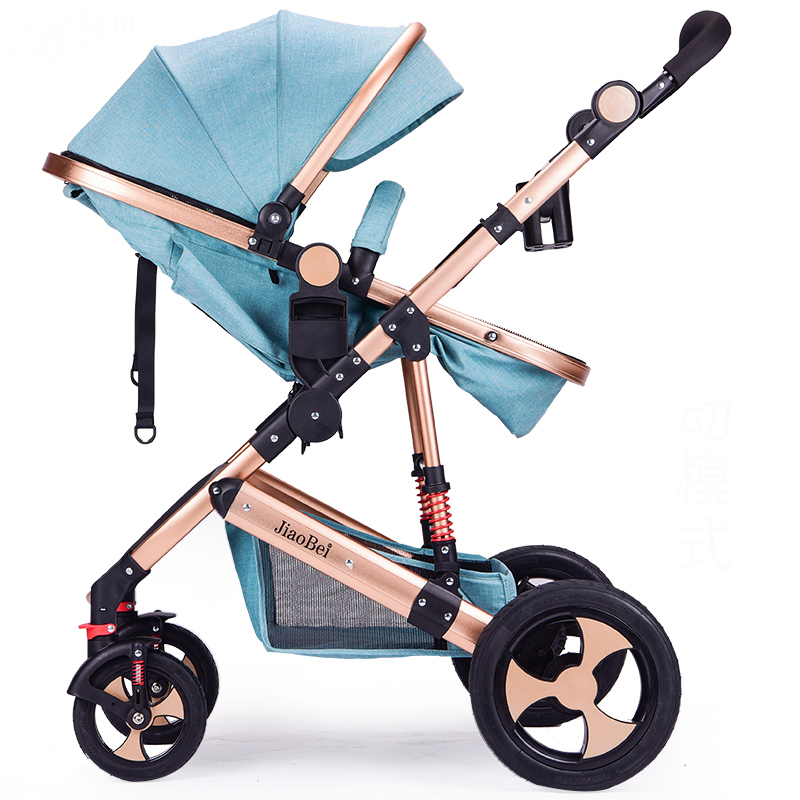 2018 Baby Stroller Can Sit Lie, Fold  suspension  High Landscape Four Seasons Universal Baby Stroller pram 2 in 1 high landscape baby stroller can sit and lie in a folding baby four seasons universal newborn baby summer baby stroller