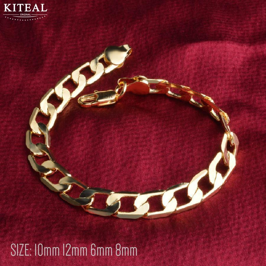Kiteal 6/8/10/12 MM 21cm Classic Chain silver/golden color Gs