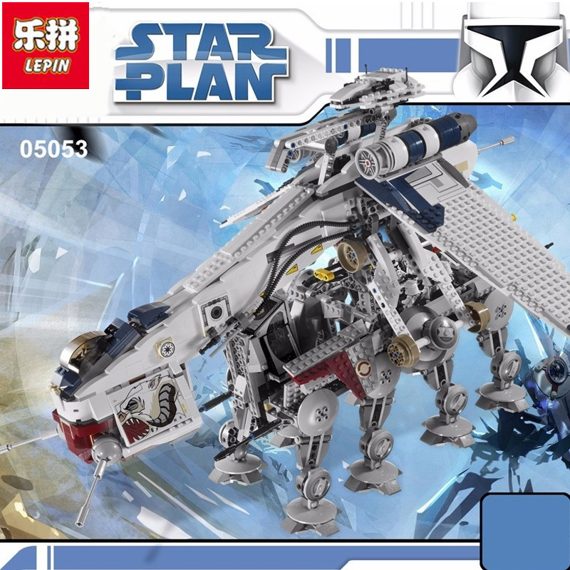 Lepin 05053 New 1788Pcs Genuine Star War Series The Republic Dropship Set Building Blocks Bricks Children Toys lepin 05053 1788pcs star series genuine