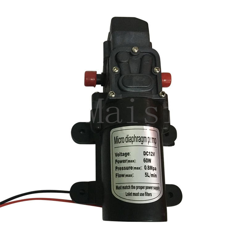 Maisi Electric Diaphragm Water Pump DC12V 60W Automatic Switch 5L/min High Pressure Car Washing Spray Water Pump 5L/min