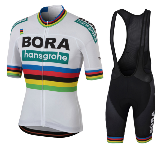 BORA hansgrohe 2018 Summer Cycling Jersey Short Sleeve Set bib shorts Road MTB  Bicycle Clothes Maillot Culotte Clothing For Men f7c7e3c1f