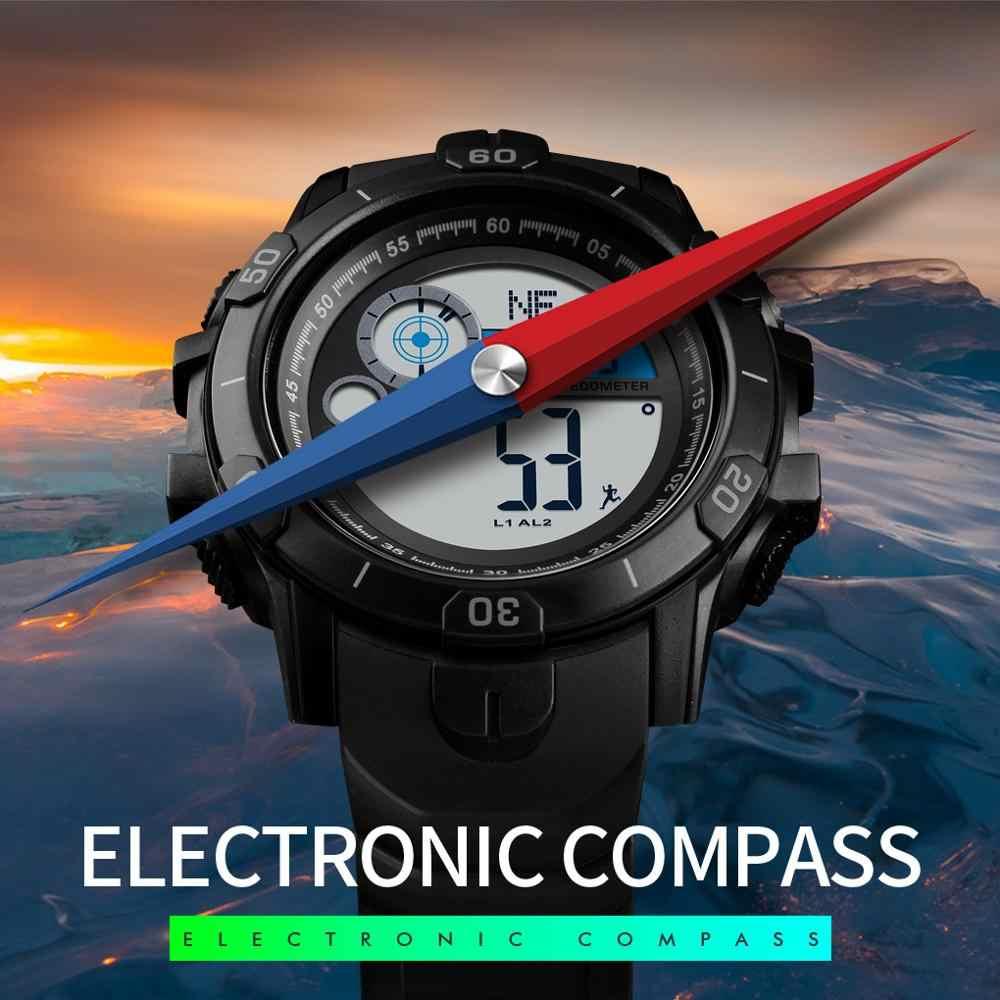 SKMEI Uomini di Sport Digitale Orologi Cronometro Impermeabile Bussola Contapassi Da Polso DELL'UNITÀ di ELABORAZIONE Wristband Vigilanza degli uomini Relogio Masculino