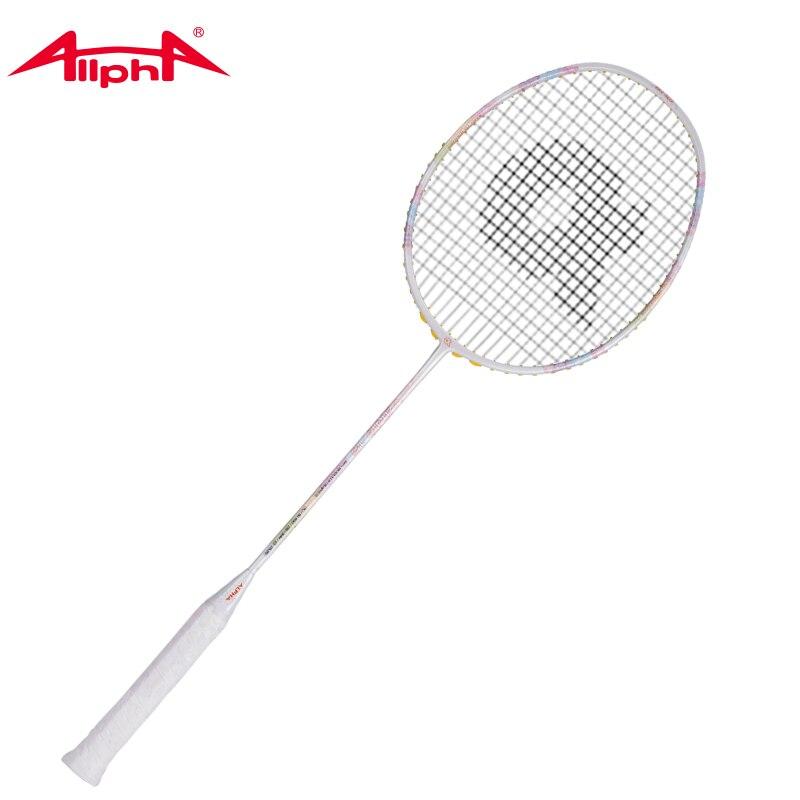 Alpha Badminton Rackets Single Racket Element Carbon Fiber Lightweight Badminton Racket 24-28pounds WIND15