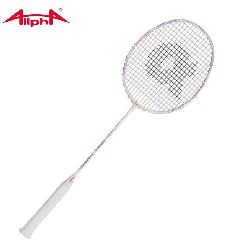 Raquette de Badminton Alpha élément de raquette unique raquette de Badminton légère en Fiber de carbone 24-28 livres WIND15