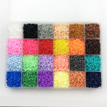 24 цвета 13000 шт 2,6 мм бусины Хама образование PUPUKOU бисер гарантия качества perler предохранитель бусины diy игрушка