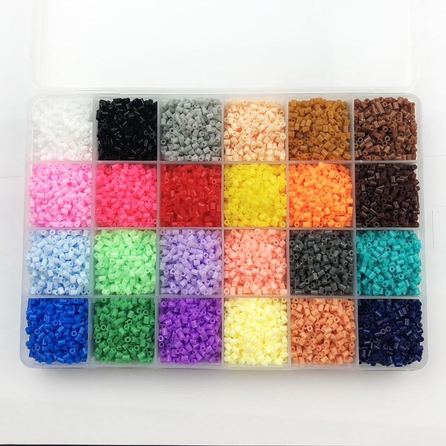 24 couleurs 13,000 pièces 2.6mm Hama perles éducation PUPUKOU perles 100% garantie de qualité perler fusible perles bricolage jouet