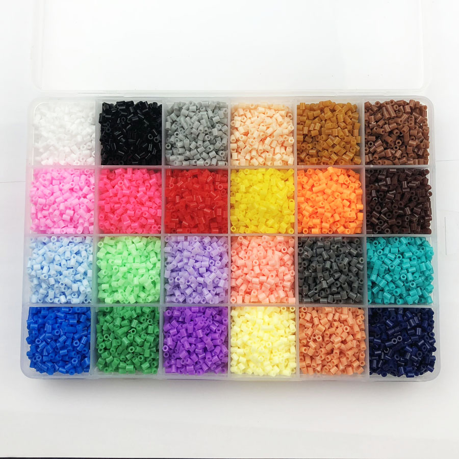 24 Colors 13,000pcs 2.6mm Hama beads Education PUPUKOU Beads 100% Quality Guarantee perler Fuse beads diy toy