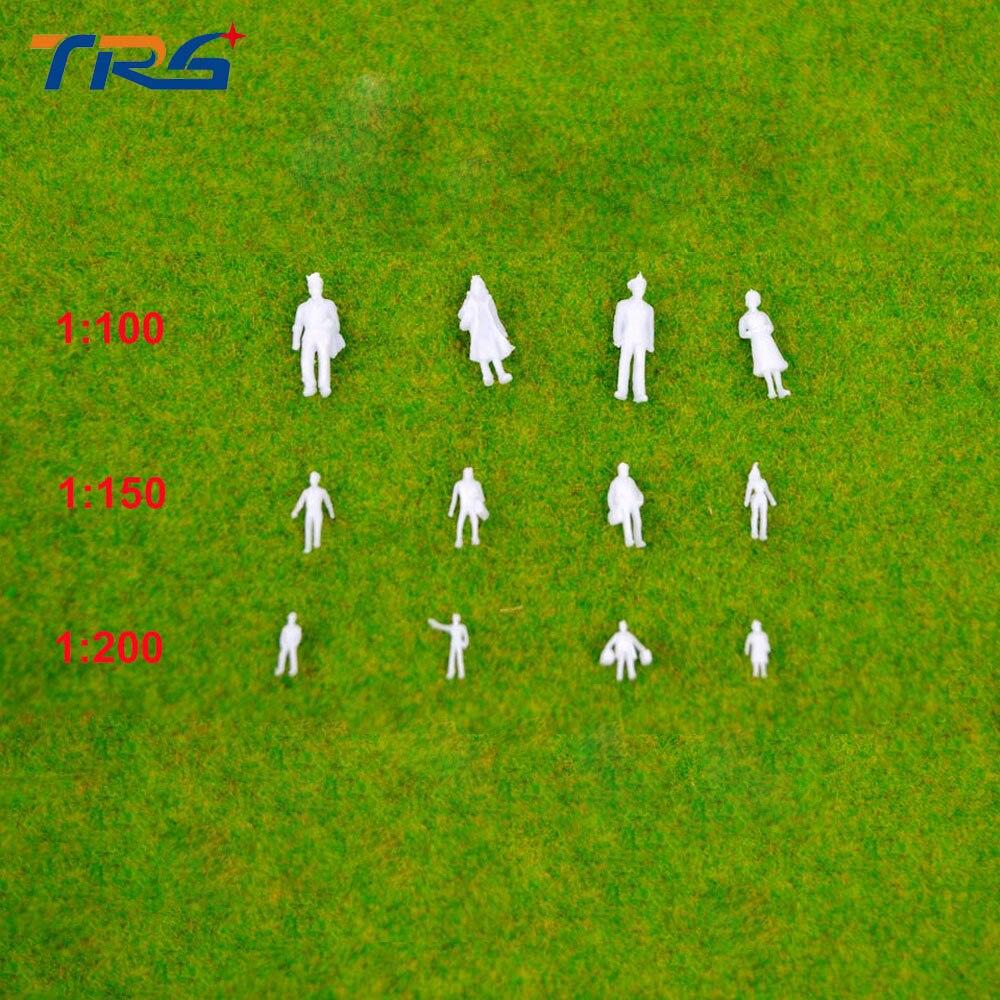 300pcs 1;100/150/200 MIXED miniature white figures