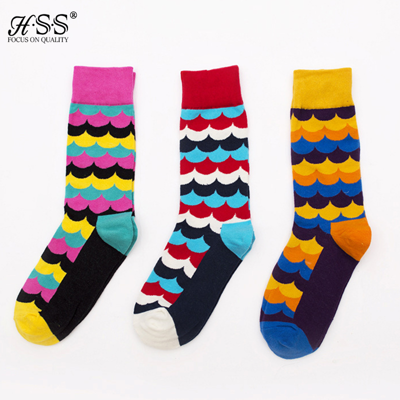 Casual Mens Cotton Colorful Happy Socks Sox Men Harajuku Gradient Color Business Dress Socks Diamond Summer Plaid Long Socks