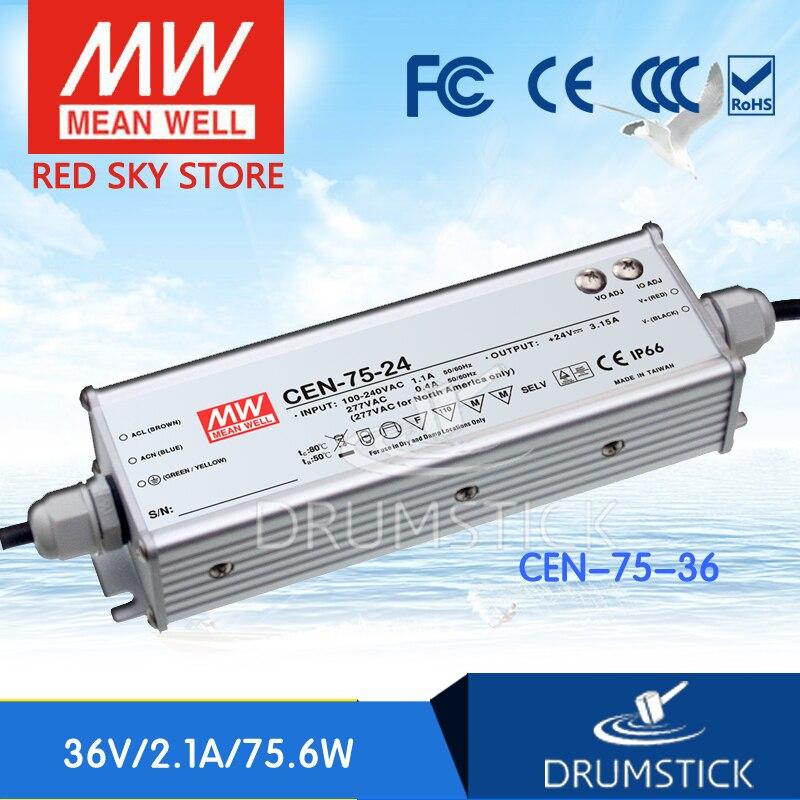 Advantages MEAN WELL CEN-75-36 36V 2.1A meanwell CEN-75 36V 75.6W Single Output LED Power Supply бордюр colorker sakkara cen mora ven 10x60 5