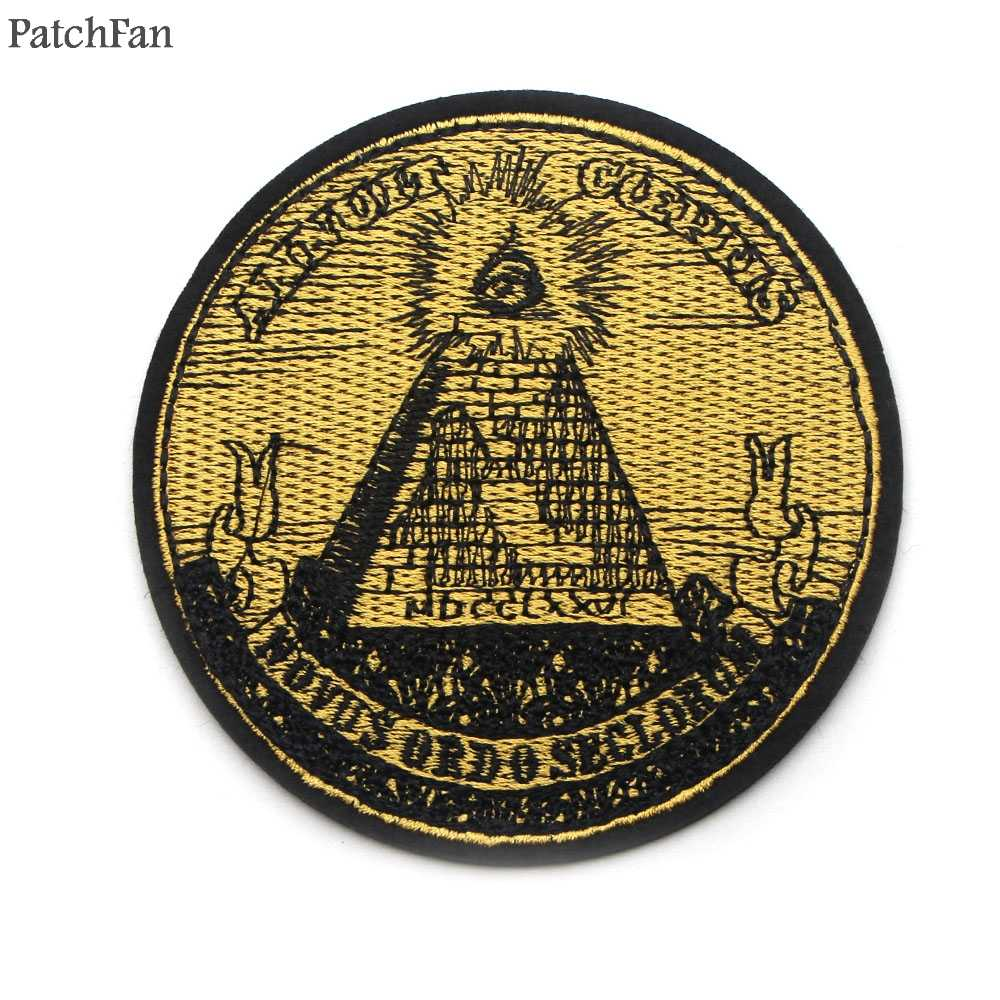 Patchfan Eye of Providence annuit coeptis Mason iron on футболка одежда вышитые патчи para сумка значки-наклейки A0821