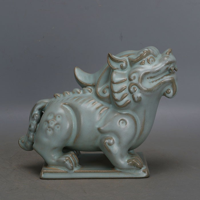 Home Decorators Collection Coupon Free Shipping: Antique SongDynasty Porcelain Statue,Bluenail Unicorn,Hand