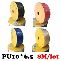 PU10*6.5 8M/lot Free shipping Air compressor inlet pipe Pu air & water 8M/lot Pneumatic parts pneumatic hose ID 6.5mm OD 10mm