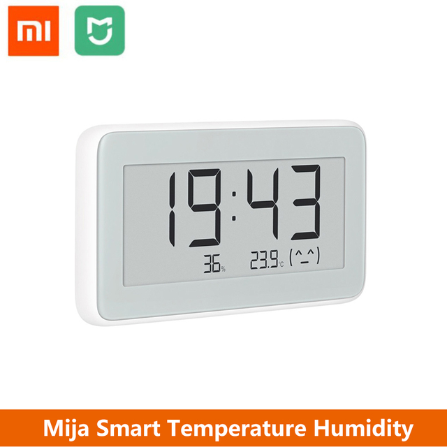 Xiaomi Mija Smart Electronic Watch Temperature Humidity Monitoring Smartphone Comtrol Work With Mi Home App With LCD Screen