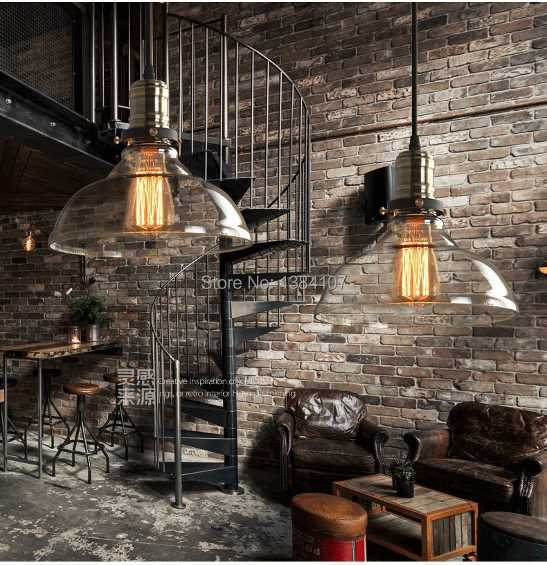 bronz big size pendant light american loft vintage glass lamp restaurant bar country style. Black Bedroom Furniture Sets. Home Design Ideas
