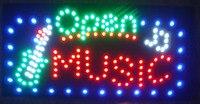 2017 Новый светодиодный открытый музыкальный магазин знаки светодиодный дисплей 15,5X27,5 дюймов