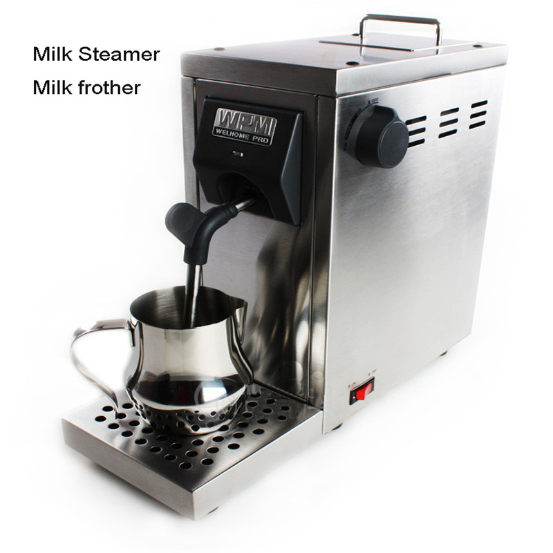 220v Milk Frother Stainless Steel Milk Steamer Milk Foam Machine In