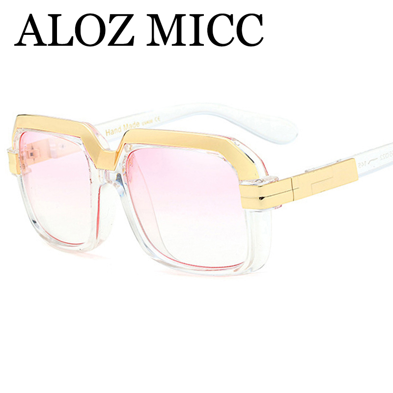 ALOZ MICC Fashion Women Sunglasses New Brand Designer Personality Men Sun Glasses Vintage Glasses Oculos De So Q73