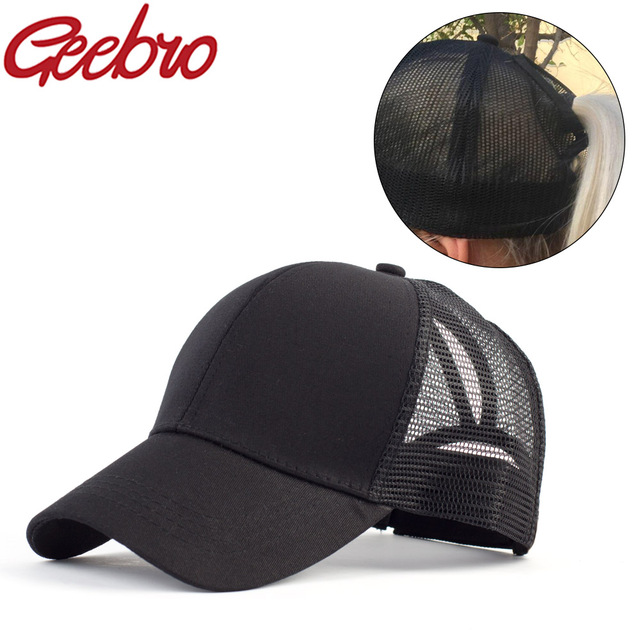 Geebro Brand Unisex Ponytail Baseball Cap Summer Men Messy Snapback Baseball  Cap Women Outdoor Sunshade Caps bone gorras JS601 d84c7fe0e8f