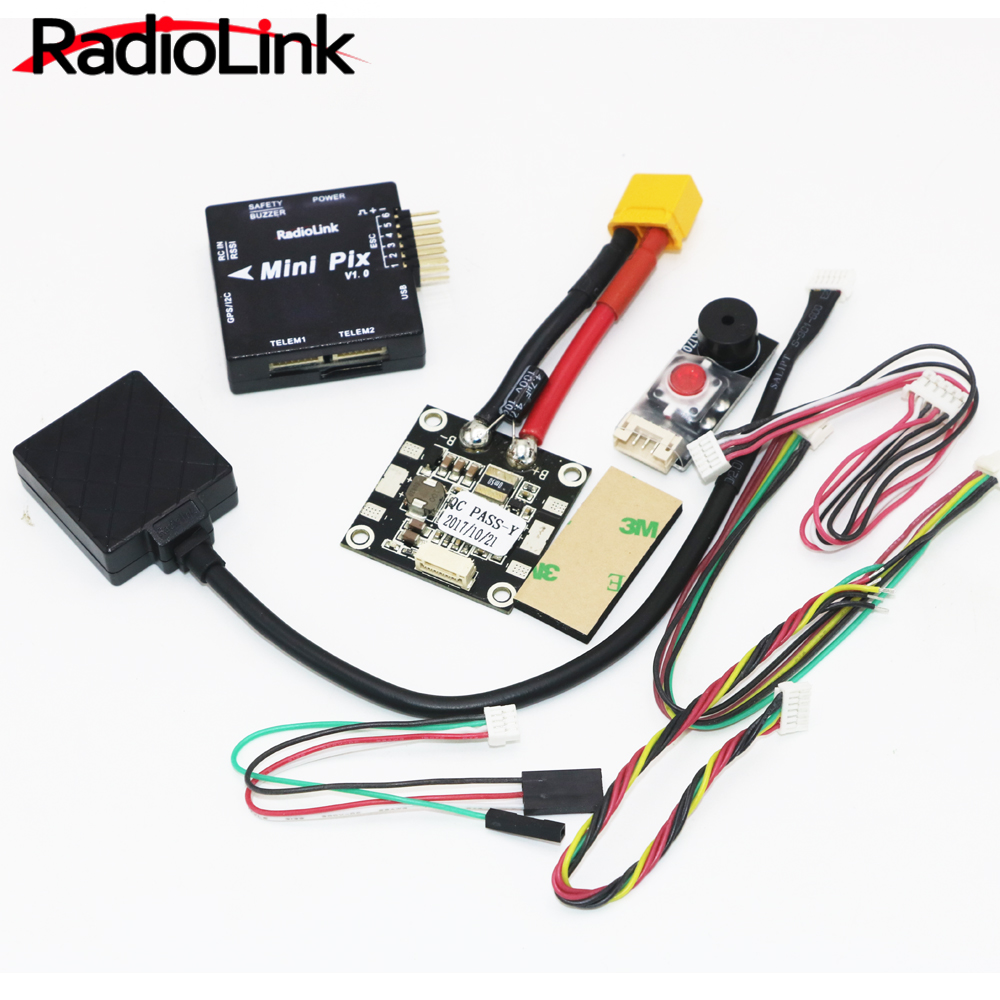 1set Radiolink Mini PIX and Mini M8N GPS Flight Control Vibration Damping by Software Atitude Hold for RC Racer Drone Quadcopter pixhawk2 open source flying control by the car fixed wing multi rotor vertical take off and landing pix flight control with gps