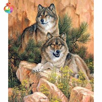 Wolf Painting Europe Style Animal Series Diamond Embroidery Nature Diy 5d Diamond Painting Cubo Rubik Pictures
