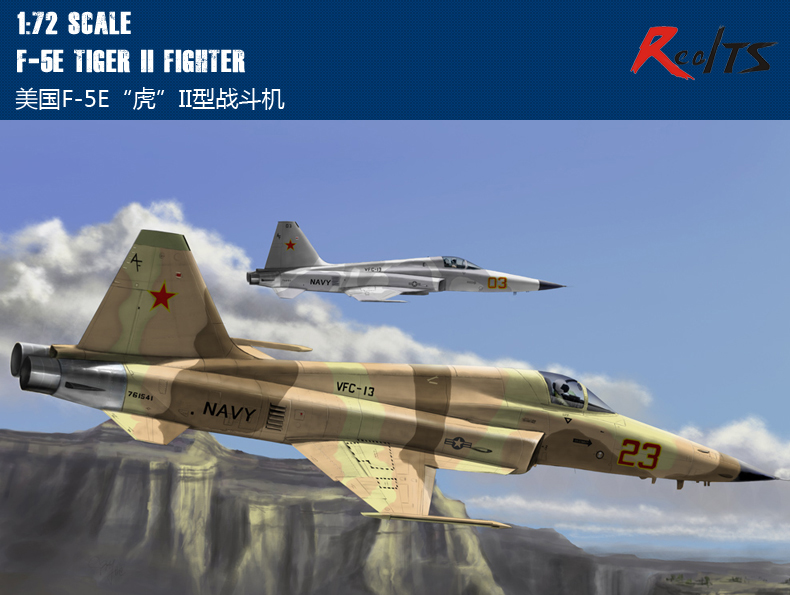RealTS HobbyBoss 80207 1/72 F-5E Tiger II Fighter сборная модель italeri самолет f 5e tiger ii patrouille suisse 1333