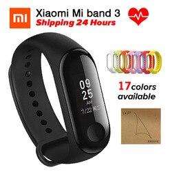 Xiao mi band 3 mi Band 3 фитнес-трекер пульсометр умный Браслет 0,78 ''OLED дисплей тачпад Bluetooth 4,2 Android