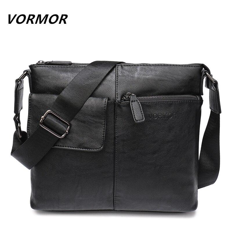 VORMOR New Arrival Fashion Business Leather Men Messenger Bags Promotional Small Crossbody Shoulder Bag Casual Man Bag
