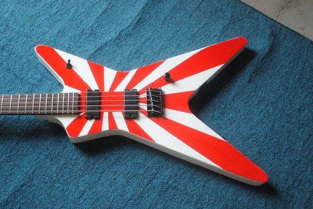 New high-quality custom V style electric guitar, Rosewood Fingerboard