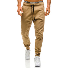 HOT 2019 Spring Autumn hip hop Fitness Casual Joggers Harem pants Men Cotton Beam Foot Trousers Elastic Waist Cargo bottoms mens