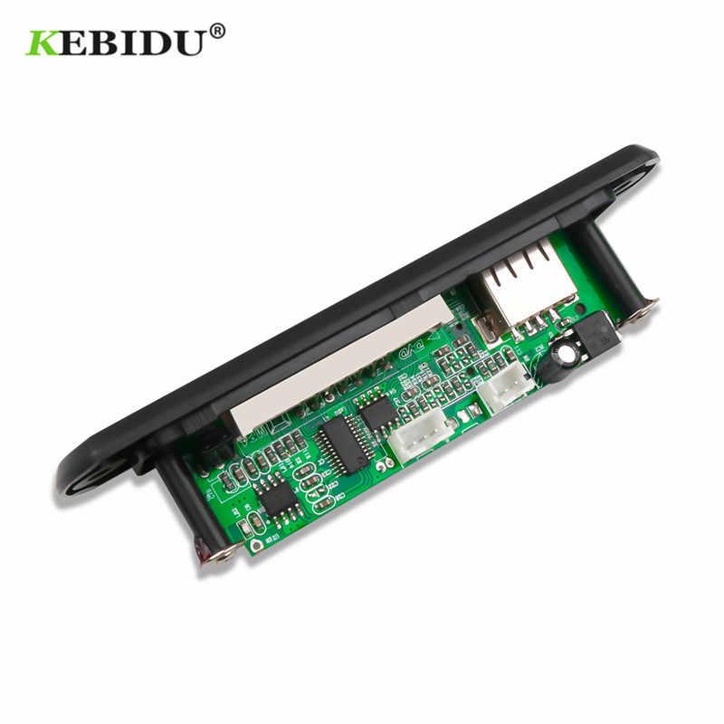 KEBIDU usb mp3 وحدة لا بلوتوث 12V MP3 WMA فك مجلس وحدة صوت FM AUX USB TF راديو ل سيارة عن سماعة موسيقية