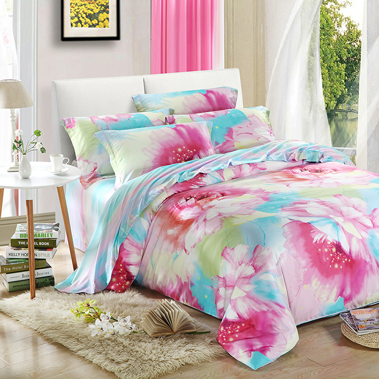 100 Cotton Rustic Style Fancy Bedding Sets 4pcs Include