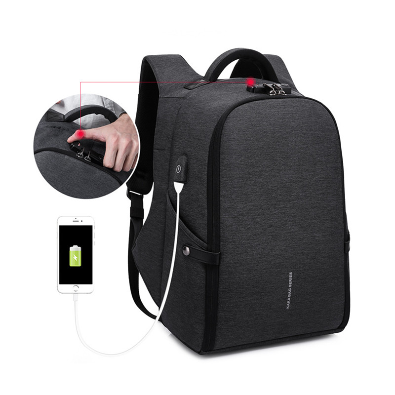 USB school backpack Multifunctional anti-theft laptop backpack intelligent USB charging double shoulder male personality Busines factory direct sales business backpack double shoulder pack usb charging schoolbag laptop package one issue wholesale