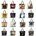 2016 Eco Reusable Ladies Womens Shopping Large Foldable Tote Shoulder Shopping School Bag Handbag Grocery Packing Recyclable Bag