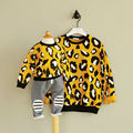 Family Matching Clothes Mother Daughter Clothes Yellow Leopard Hoodies family look Christmas mother daughter outfits T-shirts
