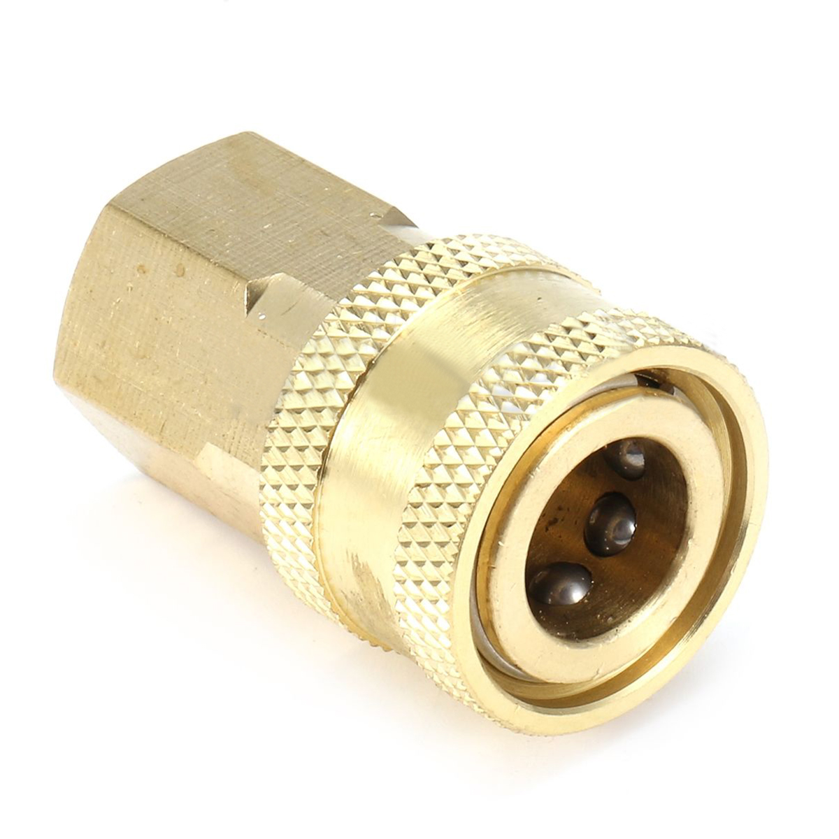 1pc Mayitr Durable 1/4 Female Quick Connect Couplers NPT Brass Pneumatic Pipe Thread Adapter for Pressure Washer 40mm*15mm