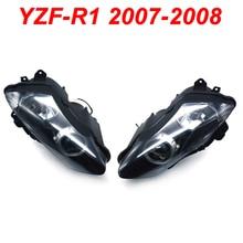 For 07-08 Yamaha YZFR1 YZF R1 YZF-R1 Motorcycle Front Headlight Head Light Lamp Headlamp CLEAR 2007 2008